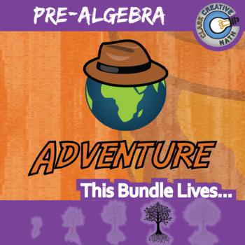 Choose Your Own Adventure -- PRE-ALGEBRA BUNDLE -- 48 Activities!