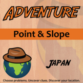 Adventure Math Worksheet -- Point and Slope -- Japan