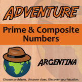 Adventure Math Worksheet -- Prime and Composite Numbers -- Argentina