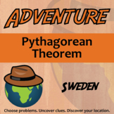 Adventure Math Worksheet -- Pythagorean Theorem -- Sweden
