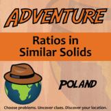 Adventure Math Worksheet -- Ratios in Similar Solids -- Poland