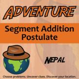 Adventure Math Worksheet -- Segment Addition Postulate -- Nepal