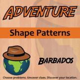 Adventure Math Worksheet -- Shape Patterns -- Barbados