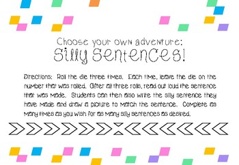 Choose Your Own Adventure Silly Sentences!
