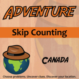 Adventure Math Worksheet -- Skip Counting -- Canada