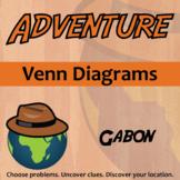 Adventure Math Worksheet -- Venn Diagrams -- Gabon