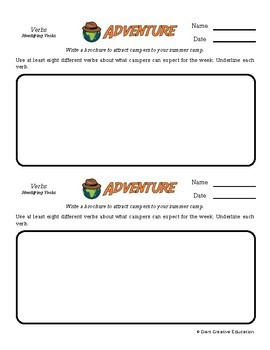 Adventure -- Verbs - Creative Writing Prompts