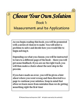 Choose Your Own Solution I - Measurement and its Applications