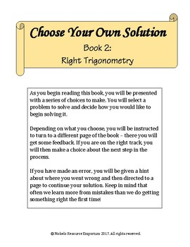 Choose Your Own Solution II - Right Trigonometry