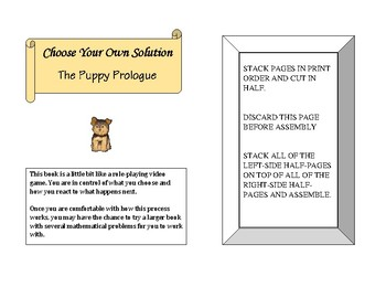 Choose Your Own Solution - The Puppy Prologue