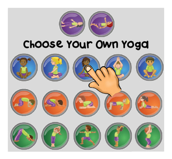 Choose-Your-Own-Yoga SmartNotebook exercise / body breaks