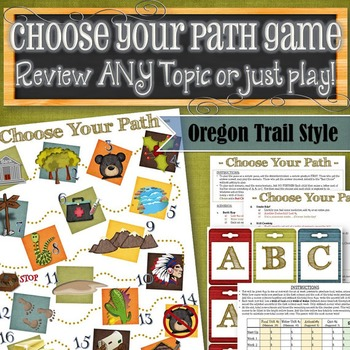 Choose Your Path Game (Simplified Oregon Trail) - INSTANT DOWNLOAD
