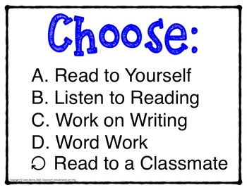 Choose Your Path Poster for Student Clickers