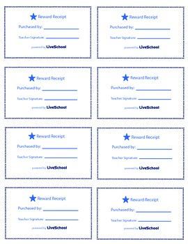 Choose Your Seat Reward Cards