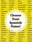 Choose Your Spanish Name ~ Back to School