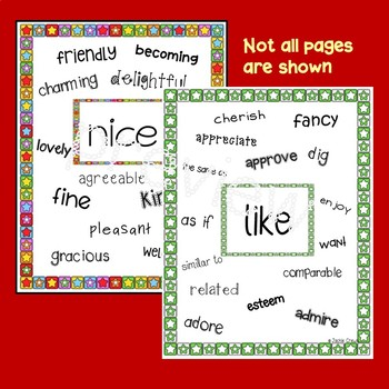 Choose Your Words:  Word Choice Literacy Activities and Posters