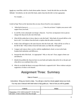 Choose a Book Assignment (New and improved book report)