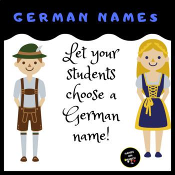 Choose a German name!