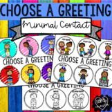 Choose a Greeting: Minimal Contact Posters Editable Text
