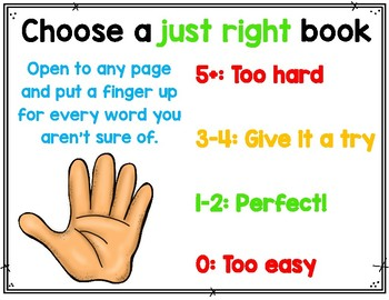 Choose a Just Right Book Poster
