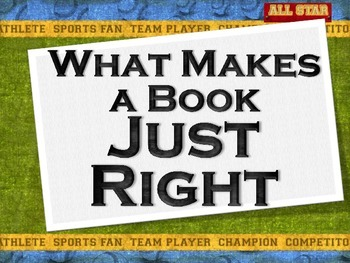 """Choose a """"Just Right"""" Independent Book"""
