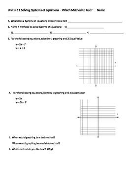 Choose a method, solving systems of equations