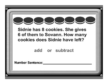 Choose an Operation Addition or Subtraction