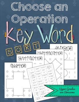 Choose an Operation Key Word Sort