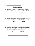 Choose an Operation Math Worksheet