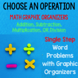 Choose an Operation SINGLE STEP Word Problems with Graphic