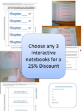 Choose any 3 Interactive Notebooks for a 25% Discount