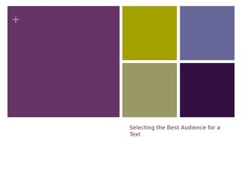 Choose the Best Audience for a Text PPT game