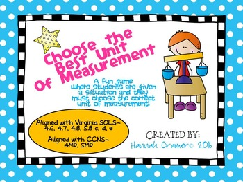 Choose the Best Unit of Measurement Game