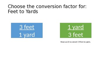 Choose the Conversion Factor Game