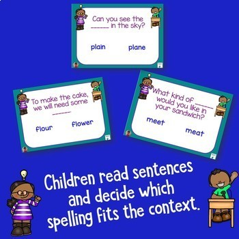 Choose the Correct Homophone Boom Cards