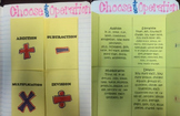 Choose the Operation Keywords Paper Folding Graphic Organizer