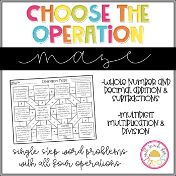 Choose the Operation Maze Level 2 Freebie