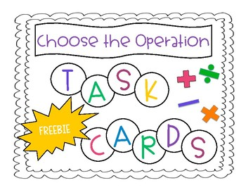 Choose the Operation Task Cards