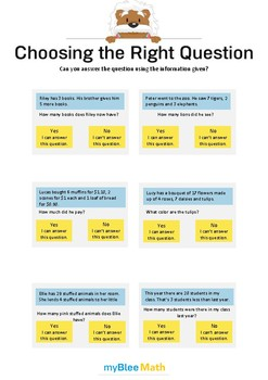 Choose the Question 1 - Can you answer the question using the information?