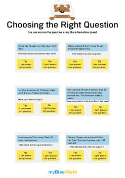 Choose the Question 3 - Can you answer the question using the information?