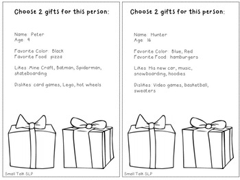 Choose the Right Gift: A Freebie for Perspective Taking Skills