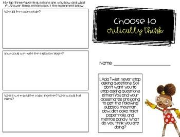 Choose to Critically Think - Back to School / Soft Skills - Ada Twist