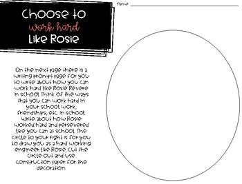 Choose to Work Hard - Back to School /Soft Skills - Rosie Revere Engineer