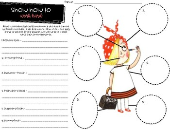 Choose to Work Hard - Back to School /Soft Skills - Rosie Revere Engineer