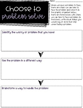 Choose to problem solve - Back to school - What do you do with a problem?