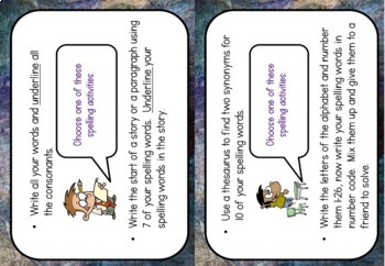 Choose your own Spelling Activity #christmasinjuly