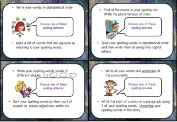 Spelling choices-Multiple Intelligences