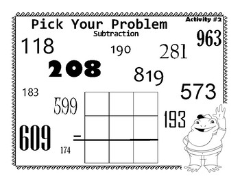 Choose your own Subtraction to Hundreds w Recording Pages