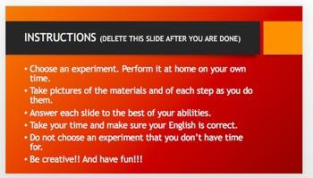 Choose Your Own Experiment (Scientific Method Practice)