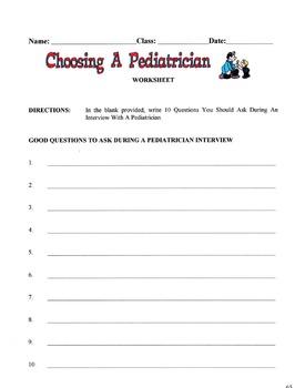 Choosing A Pediatrician Lesson